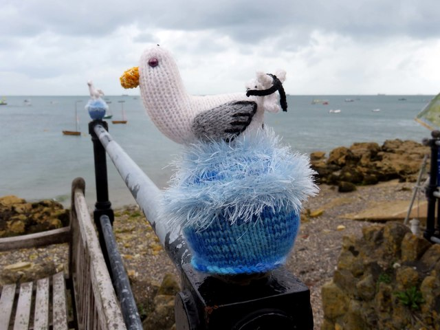 Woollen seagull by Nettlestone Point