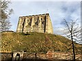 TG2308 : Looking up at the castle in Norwich by Richard Humphrey