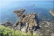SX0652 : Rocks, Fishing Point by N Chadwick