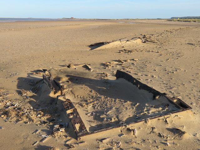 World War 2 tanks buried in Titchwell beach, Norfolk
