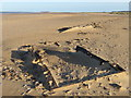 TF7544 : World War 2 tanks buried in Titchwell beach, Norfolk by Richard Humphrey