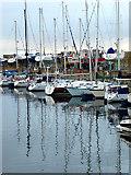 NJ2371 : Yachts in New Basin Marina, Lossiemouth by John Lucas
