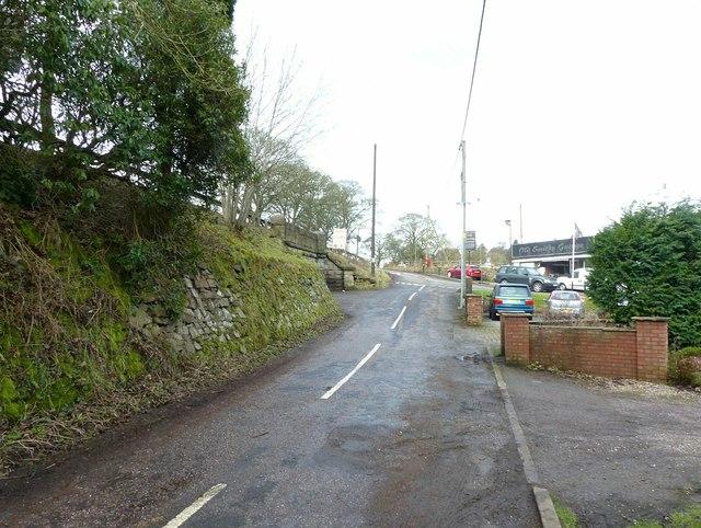 The old road at Bosley Bridge
