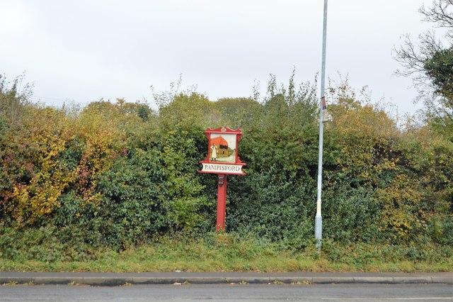 Village sign, Pampisford