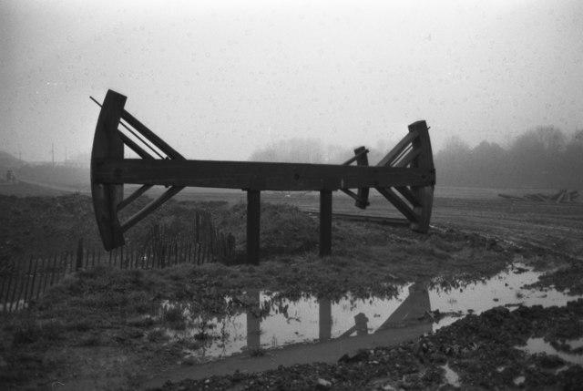 Black Country living Museum - beam for replica Newcomen engine