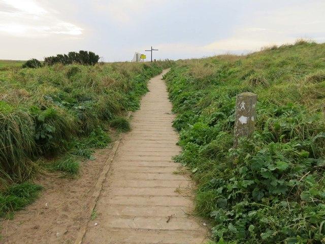 Boardwalk to the coastal path
