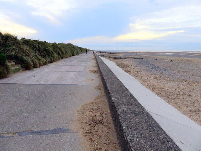 The Lancashire Coastal Way near Rossall Point