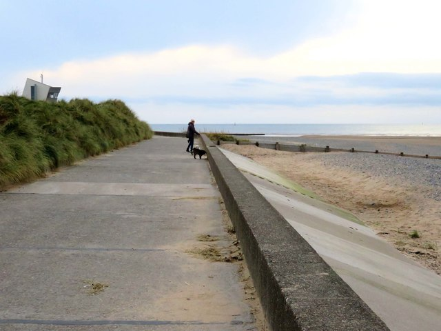 The Lancashire Coastal Way near Rossall Point