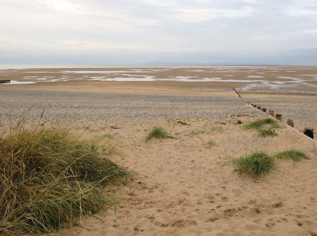 The beach at Rossall Point