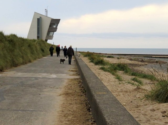 The Lancashire Coastal Way at Rossall Point