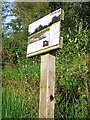 NY4058 : Information board, Gosling Sike Farm by Rose and Trev Clough