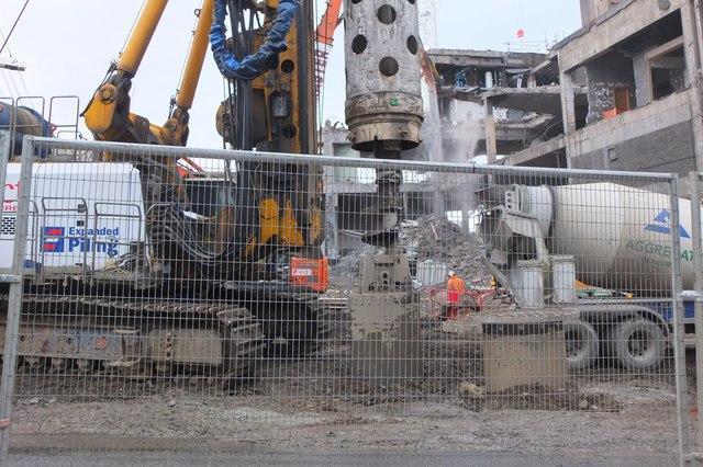 Construction and demolition, St James site Edinburgh