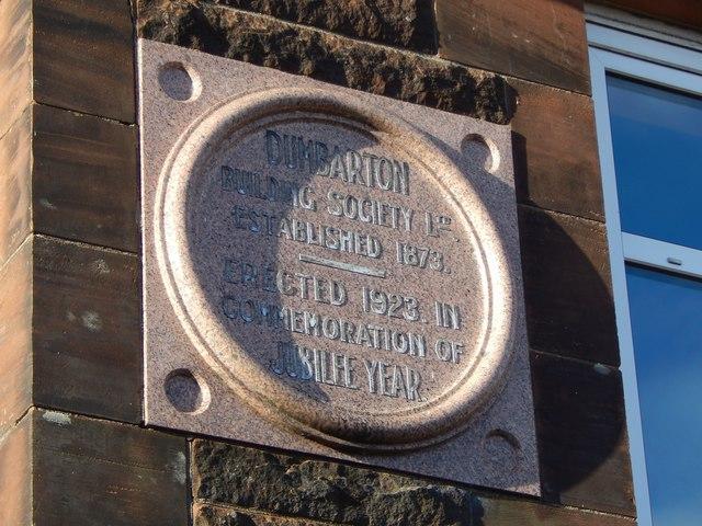 Dumbarton Building Society stone in Silverton Avenue