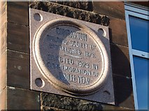 NS4075 : Dumbarton Building Society stone in Silverton Avenue by Lairich Rig
