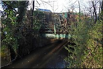 NS4074 : Disused railway bridge over Gruggies Burn by Lairich Rig
