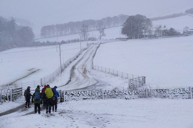 Track to Boreland farm