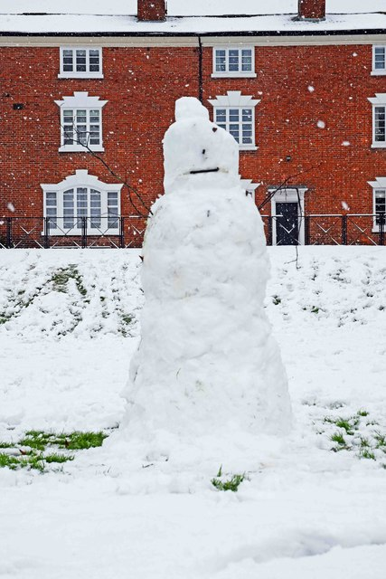 One eyed snowman, Stourport-on-Severn