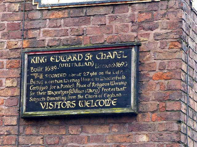 Sign to King Edward Street Chapel, corner of Jordangate