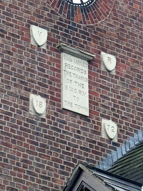 Dedicatory plaque, Drill Hall, Bridge Street