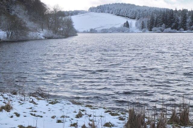 Portmore Loch in winter