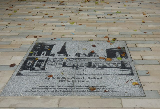St Philip's by Lowry: pavement art