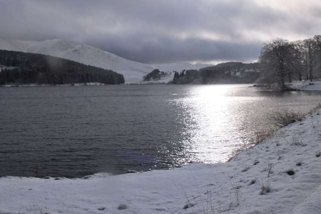 Portmore Loch in winter