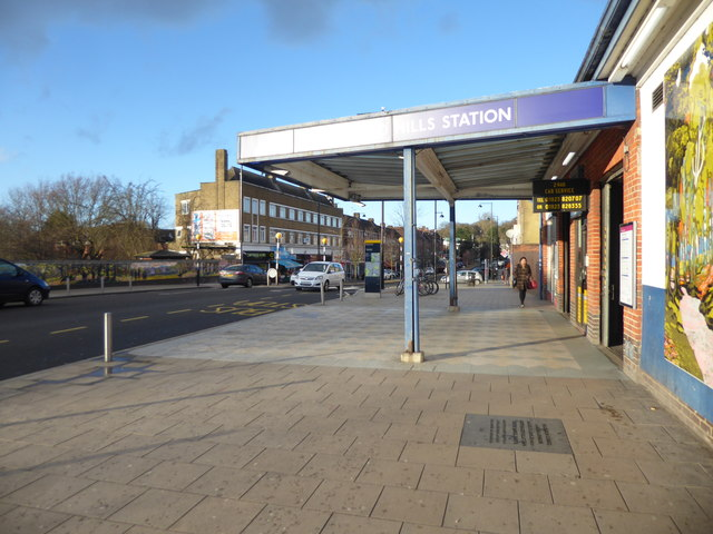 The entrance to Northwood Hills station