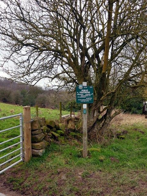 Peak & Northern Footpaths Society sign #416