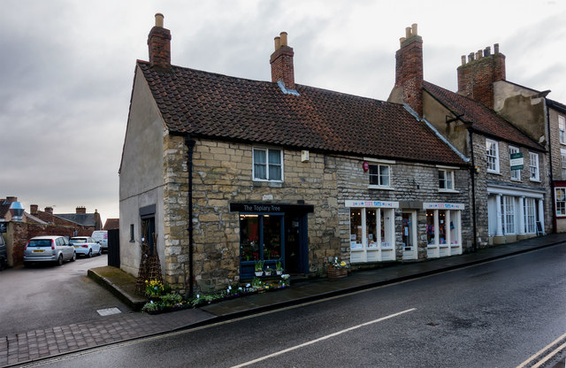 Cottage style houses as shops