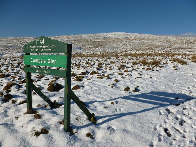 Campsie Glen sign