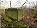 NZ0764 : Old water tank above Whittle Dene by Andrew Curtis