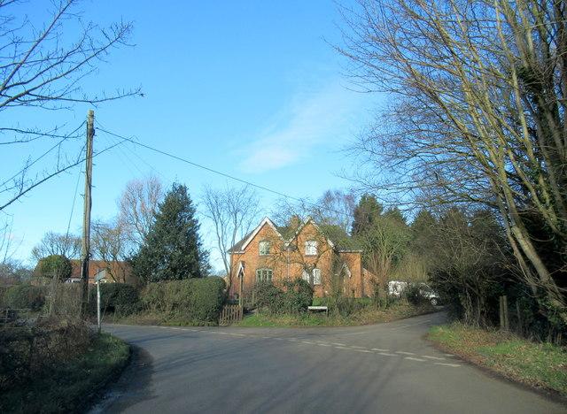Crown Lane & Coley Pits Lane Junction Wychbold