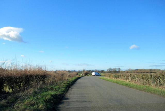 Sharp Bend on Crown Lane Wychbold