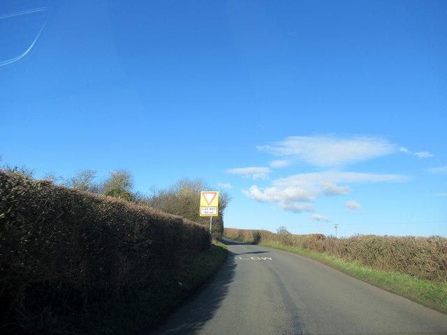 Crown Lane Near Grange Farm Crossroads