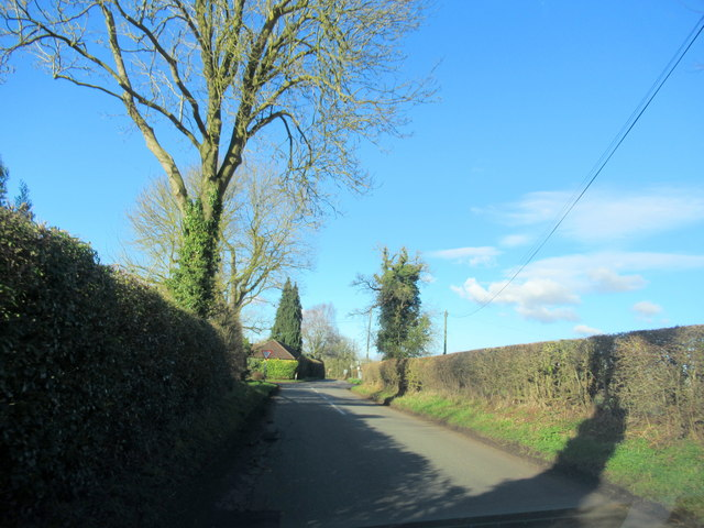 Crown Lane Approaching Grange Farm Crossroads