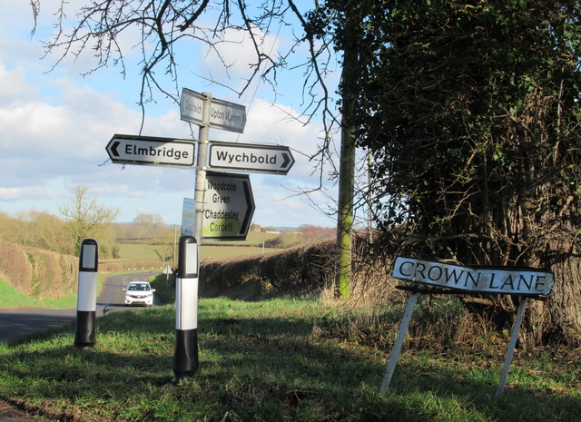 Wonky Signs at Crown Lane Grange Farm Crossroads