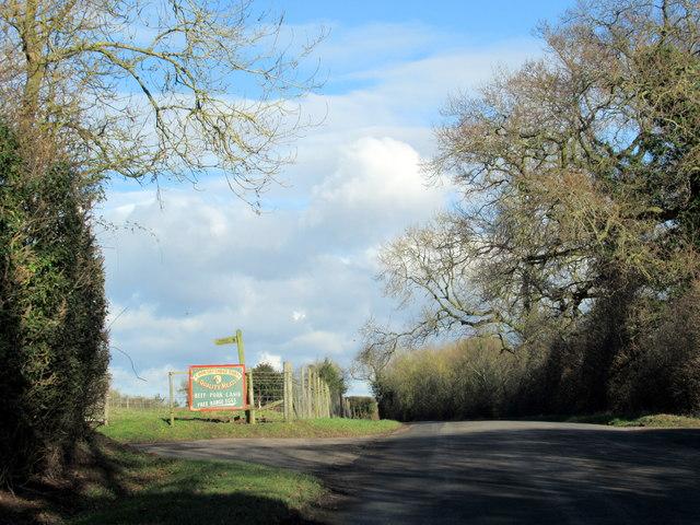 Crutch Lane Passing Cooksey Lodge Farm