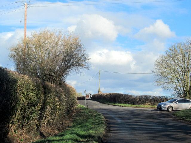 Crutch Lane at Swan Lane Turning
