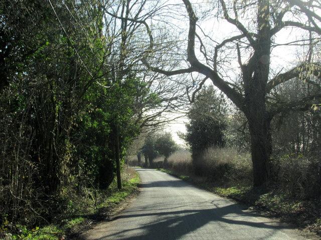 Swan Lane Near Poiselands