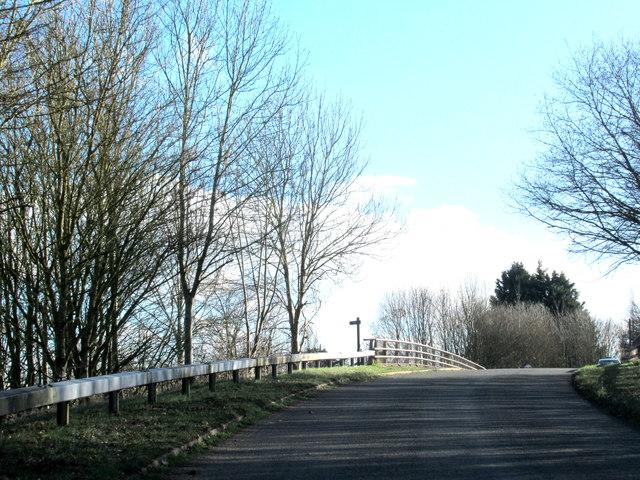 Swan Lane About to Cross M5 Motorway Near Upton Warren