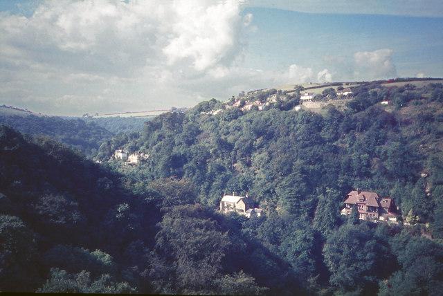 View towards Lynton Youth Hostel (1984)