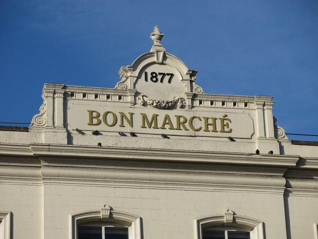 BON MARCHE, Brixton Road (A23), SW9 - detail