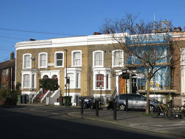 Terraced houses, Pulross Road / Bellefields Road, SW9