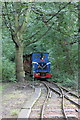 SE2635 : Train of Abbey Light Railway approaching Kirkstall Abbey station by Schlosser67