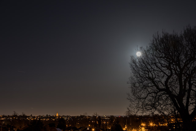 Supermoon / Blue Moon on 31 January 2018 - London N14