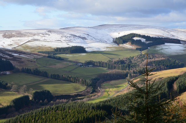 Valley of the Leithen Water from Kirnie Law