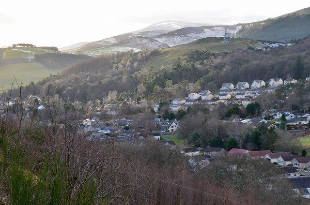 Innerleithen from Pirn Hill