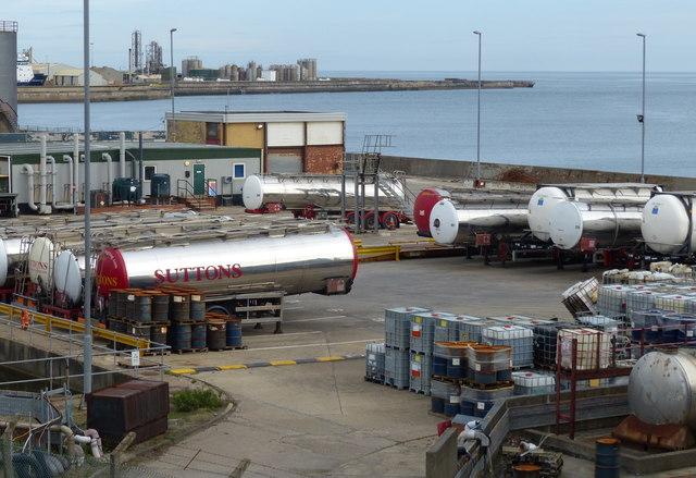 Oil depot at the Sunderland Docks