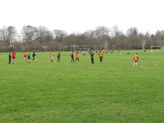 Gunnersbury Park boys' soccer training