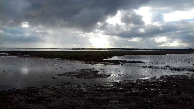 Looking out over Pegwell Bay